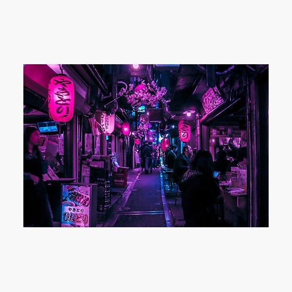 Tokyo Alley of Food & Beer Photographic Print