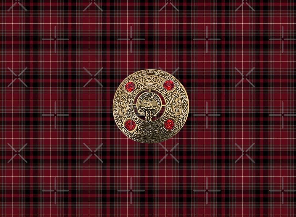 Fiery Cross Inspired Plaid with Frasier Clan Broach by Loverdove