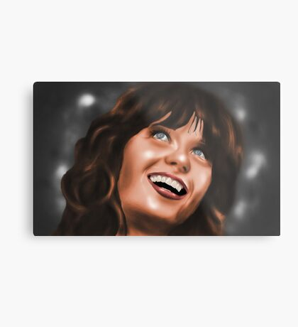 Zooey Deschanel Metal Print