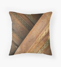 Rusty lines Throw Pillow