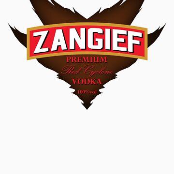 Zangief - Premium Red Cyclone Vodka by gorillamask