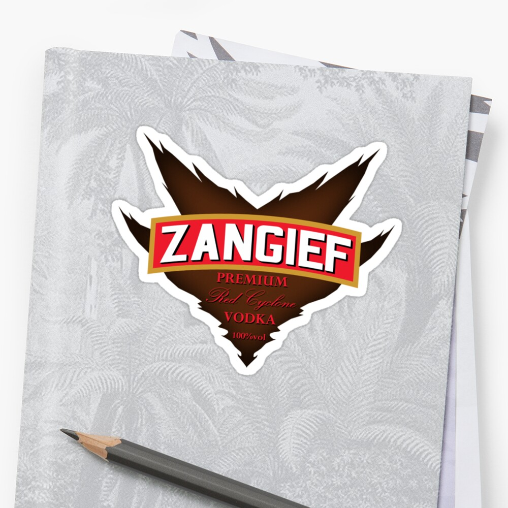 Zangief - Premium Red Cyclone Vodka by gorillamask