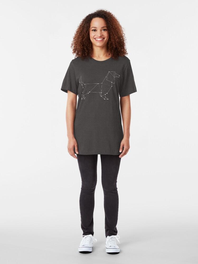 Alternate view of Dachshund Slim Fit T-Shirt