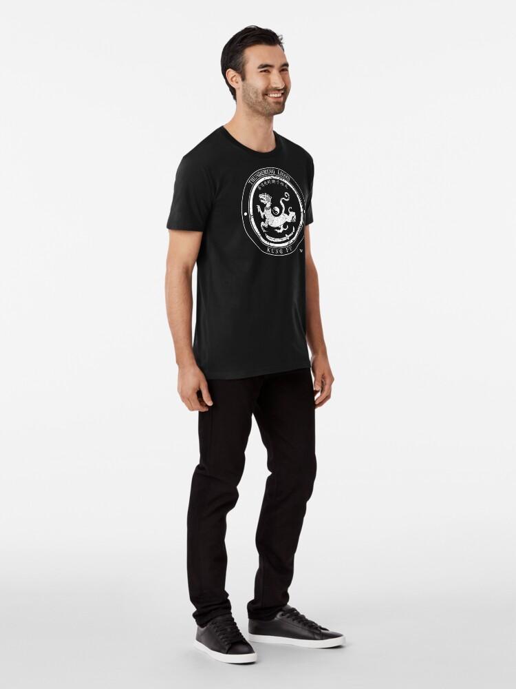 Alternate view of Thundering Lions Kung Fu School Logo Premium T-Shirt