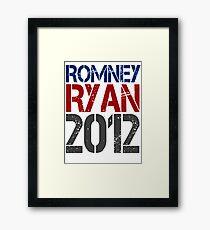 Romney Ryan 2012, Bold Grunge Design Framed Print