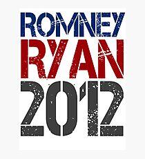 Romney Ryan 2012, Bold Grunge Design Photographic Print
