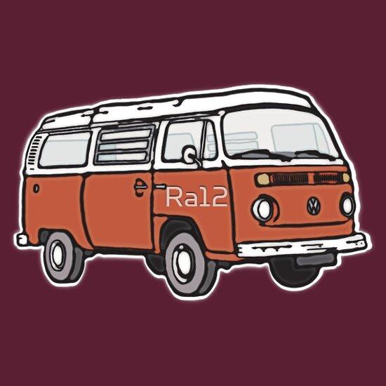 TShirtGifter presents: Bay Window Campervan Orange