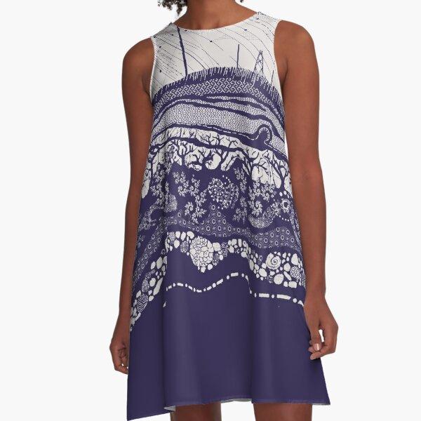 Winter Hill light grey A-Line Dress