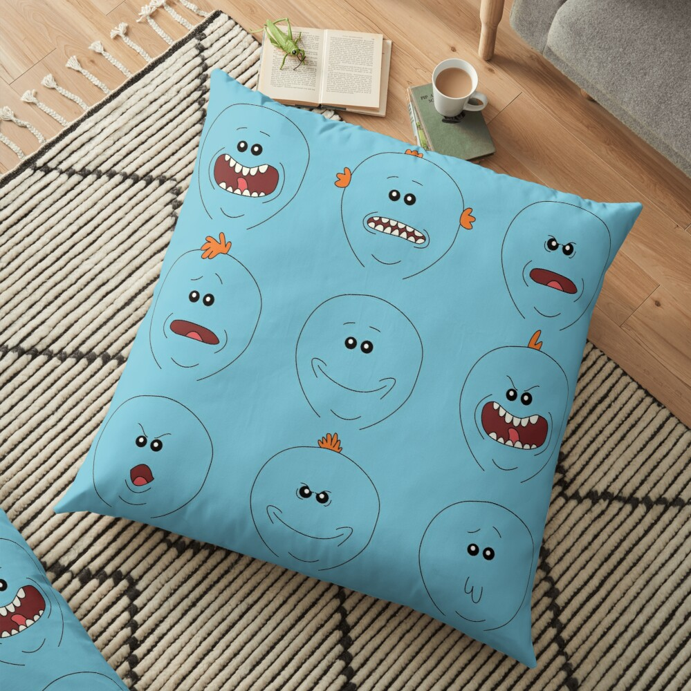 rickandmortyrbppsubmission Floor Pillow