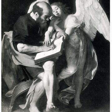 Saint Matthew - Carvaggio by gintrauma