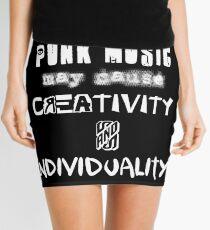 Punk Causes Creativity - White Mini Skirt