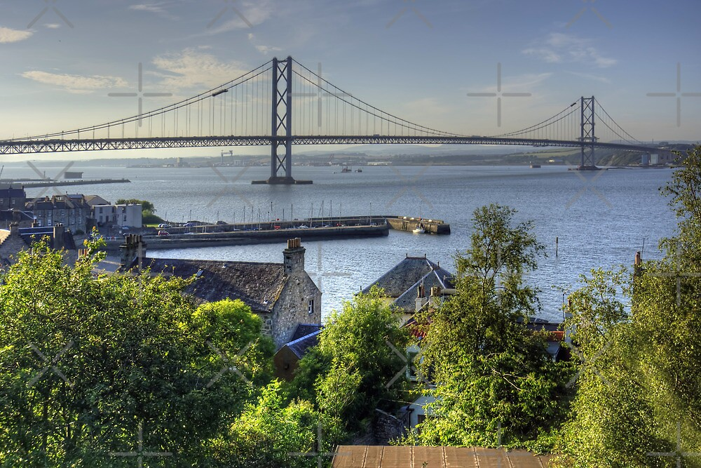 Forth Road Bridge and Harbour by Tom Gomez