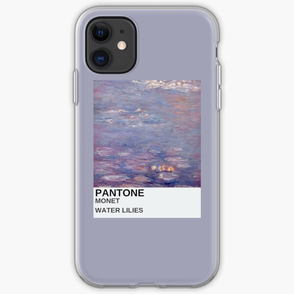 monet art aesthetic phone case purple painting iPhone Soft Case