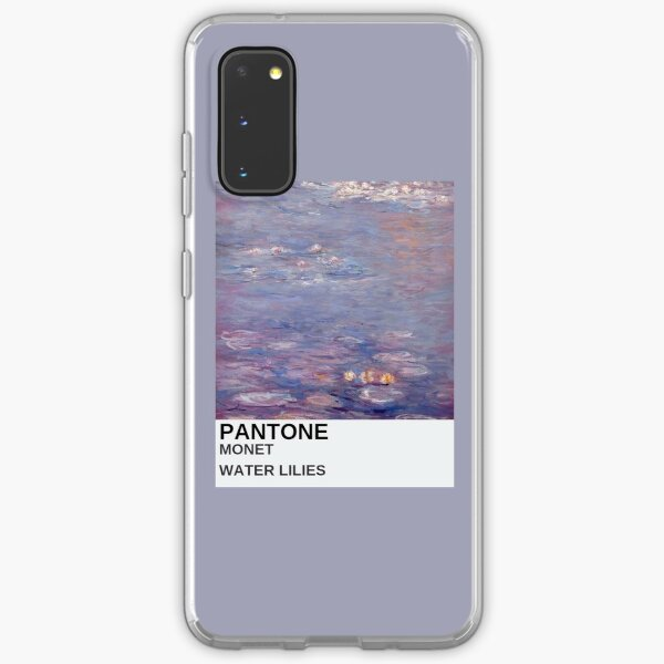 monet art aesthetic phone case purple painting Samsung Galaxy Soft Case