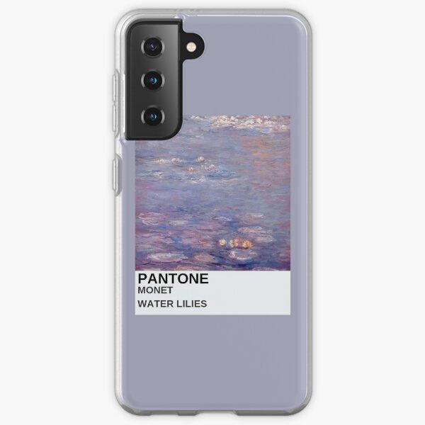 étui de téléphone esthétique monet art peinture violette Coque souple Samsung Galaxy