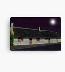 Robert Burns Cottage by Moonlight Canvas Print