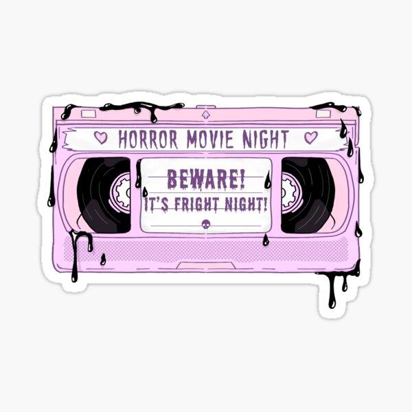 Horror VHS sticker [Pastel goth] Sticker