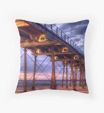 Saltburn Pier Throw Pillow