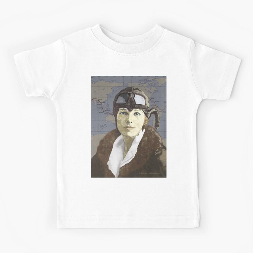 Amelia Earhart Kids T-Shirt