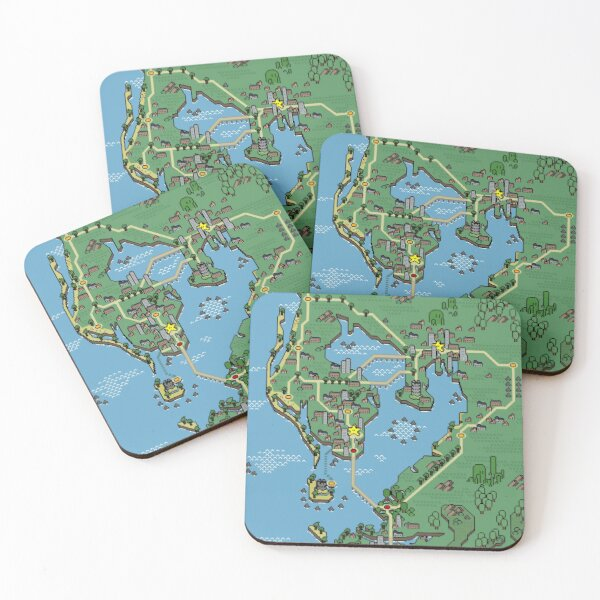 Mushroom Style - Tampa Bay Coasters (Set of 4)