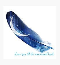 Until the moon and back Photographic Print