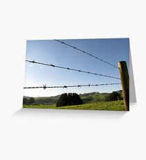 Blue Wire Greeting Card