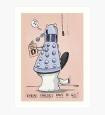 dalek toilet humour Art Print