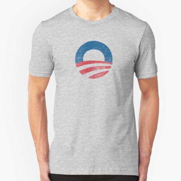 Retro Obama Logo Shirt Slim Fit T-Shirt