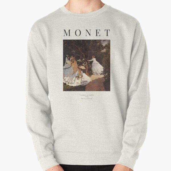 Claude Monet - Women in the Garden - Exhibition Poster Pullover Sweatshirt