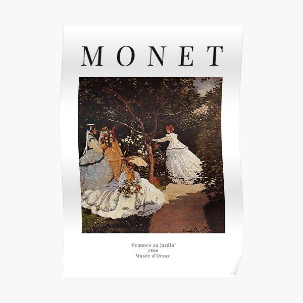 Claude Monet - Women in the Garden - Exhibition Poster Poster