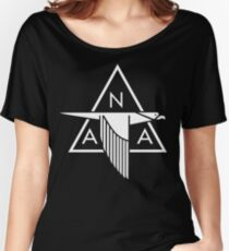 North American Aviation Logo (White) Women's Relaxed Fit T-Shirt