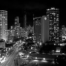 Surfers Paradise at Night B&W by Andrejs Jaudzems