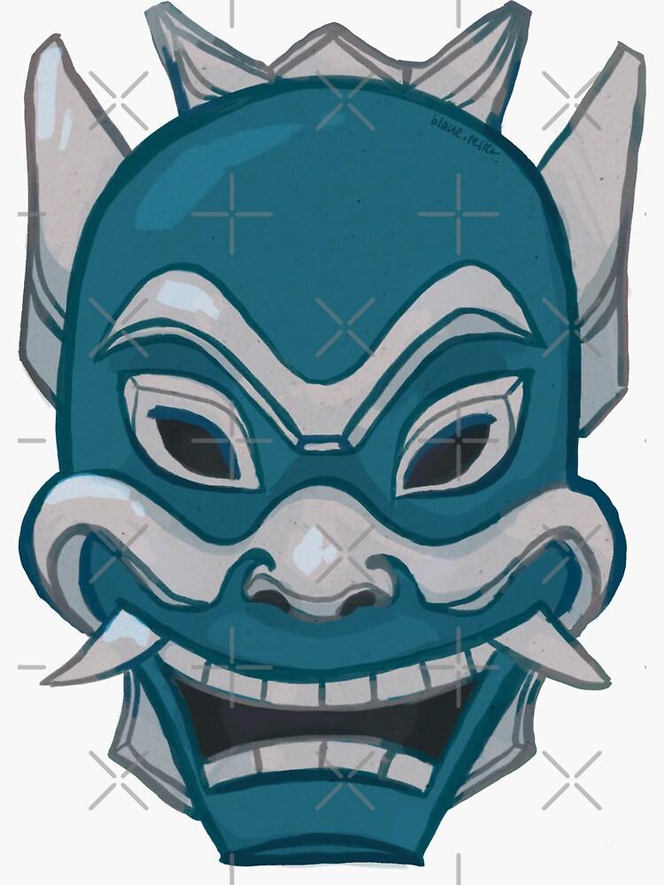 Zuko Blue Spirit Mask ATLA by kingwise