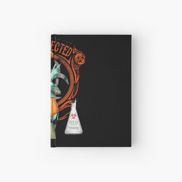 The Official Virus Vodka Zombie Pinup Girl Hardcover Journal