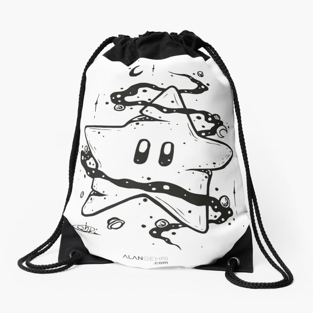 give me a boost Drawstring Bag