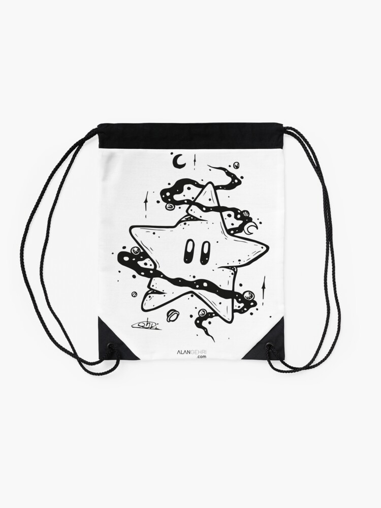 Alternate view of give me a boost Drawstring Bag