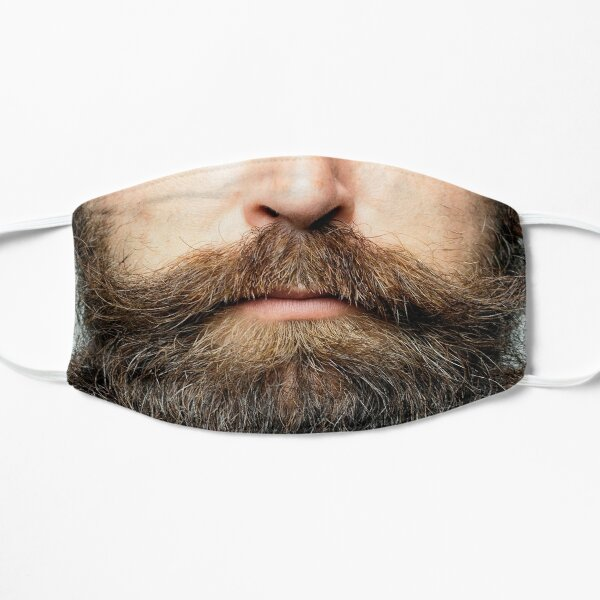 Hipster Beard face mask Flat Mask