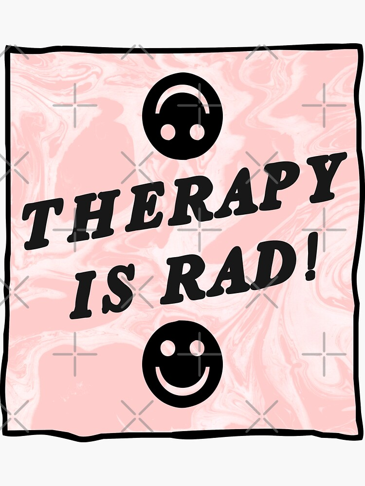 therapy is rad | pink | mental health / self care by craftordiy