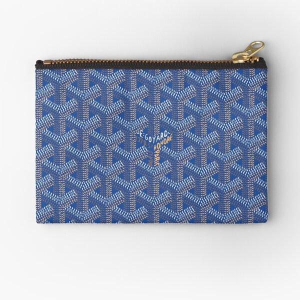 Goyard blue pattern 1 Zipper Pouch