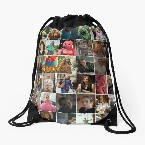 EVERY VILLANELLE OUTFIT EVER Drawstring Bag