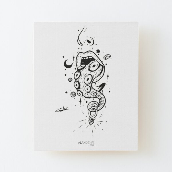 draw12 Wood Mounted Print