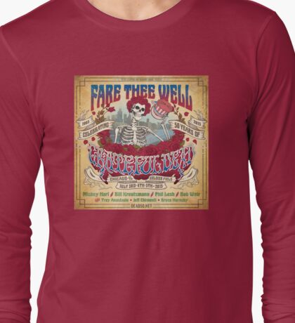 fare thee well - grateful dead Long Sleeve T-Shirt