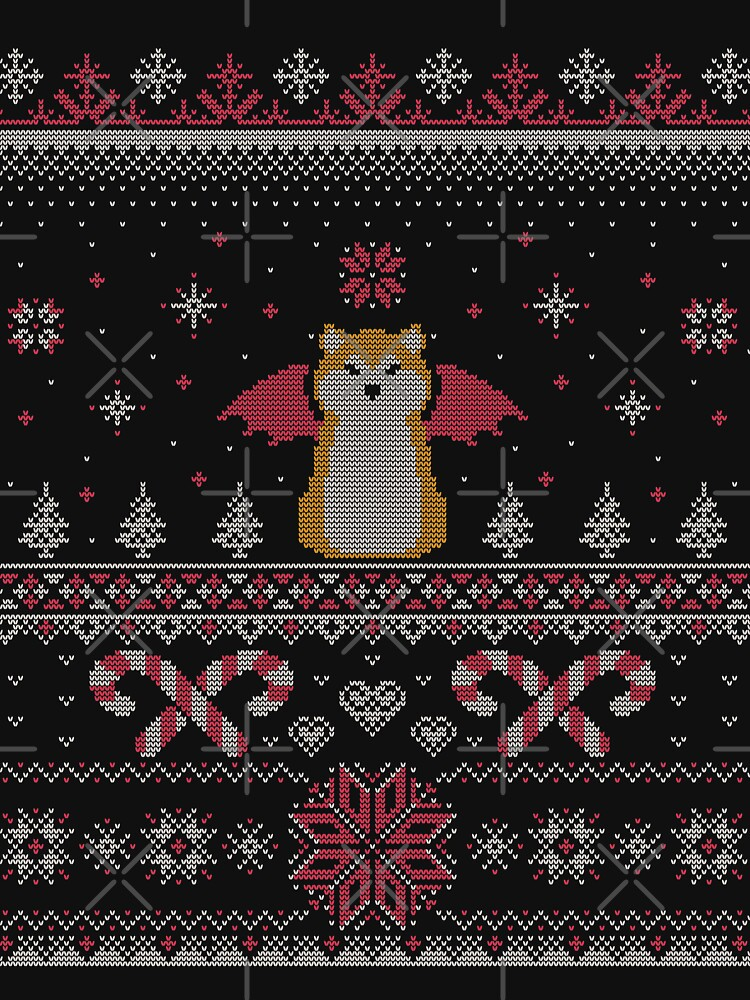 Ugly Holiday Sweater (Pink) by KaijuKennels