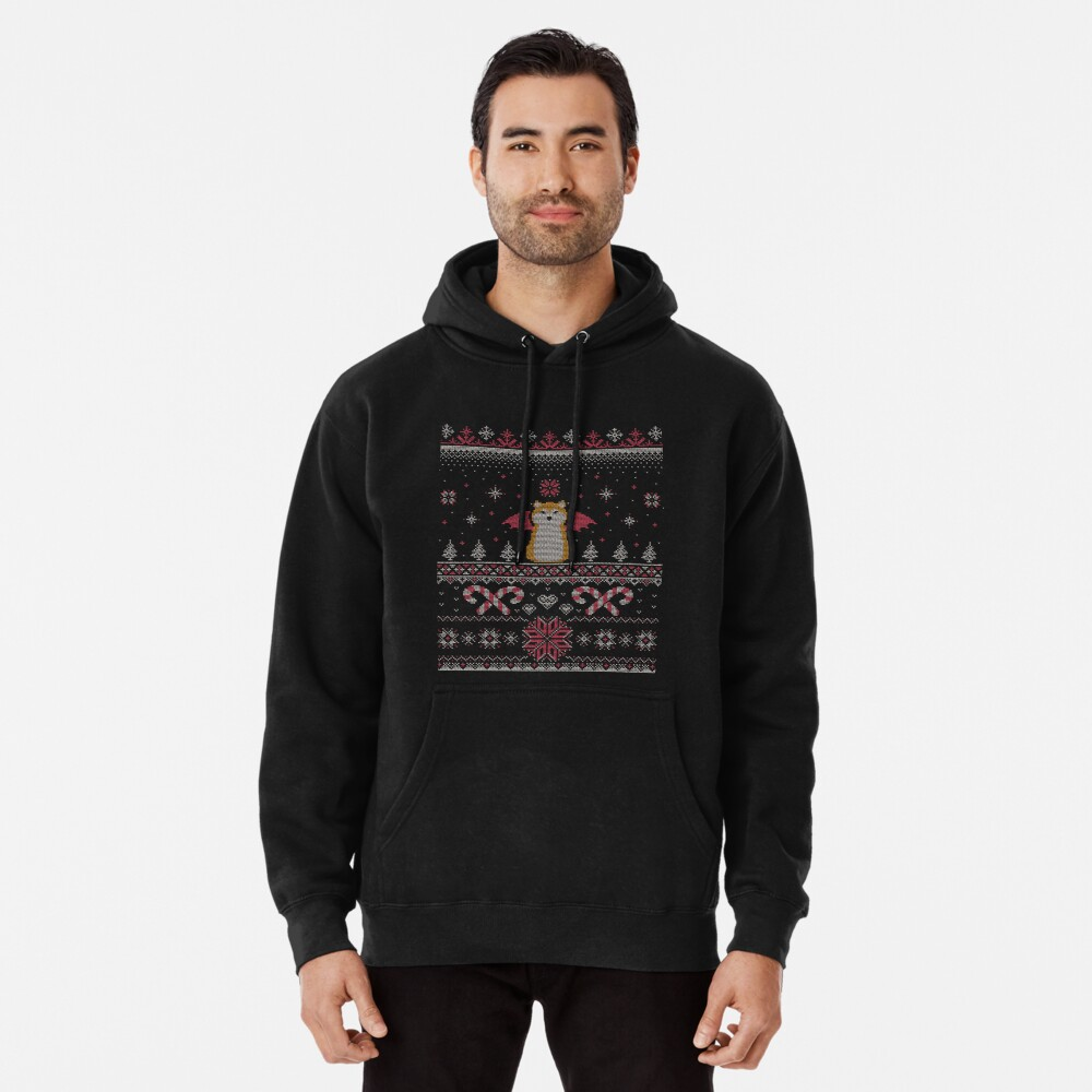 Ugly Holiday Sweater (Pink) Pullover Hoodie