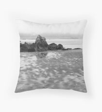 Foggy Shore Throw Pillow