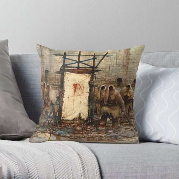 The Crucifiers - Mob Dream - Art by Greg Hildebrandt Throw Pillow