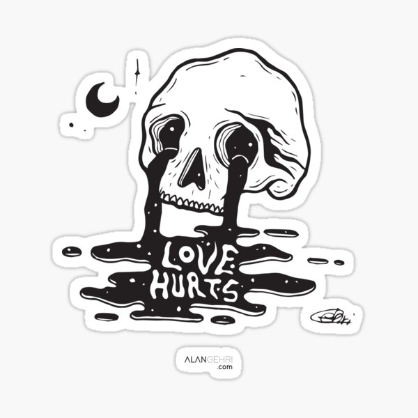 Love is hard to find, hard to keep, and hard to forget Sticker