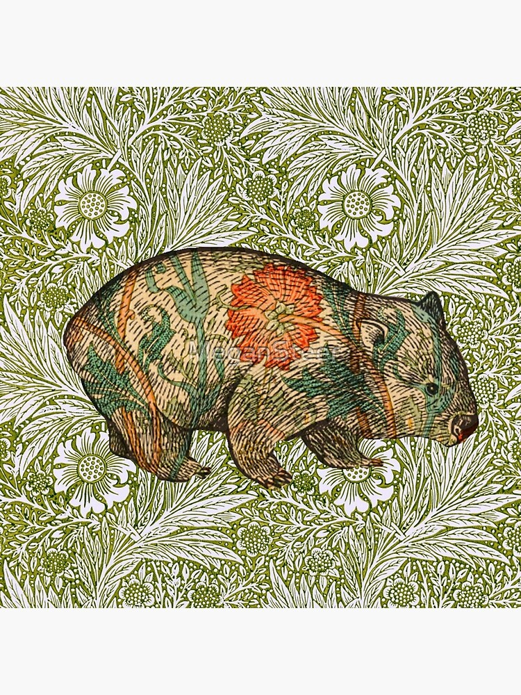 Rossetti's Wombat in Green Marigold by MeganSteer