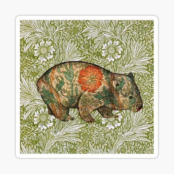 Rossetti's Wombat in Green Marigold Sticker