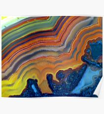 Waves (Lace Agate) Poster